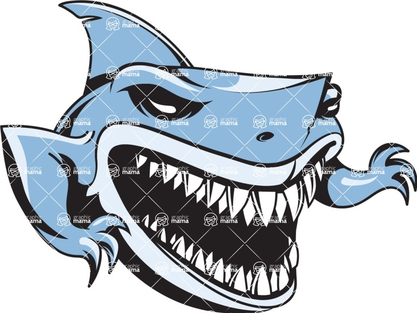 Vector Mascot Collection - Blue Shark Mascot Design